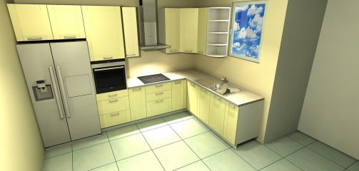 kitchen, design, interior