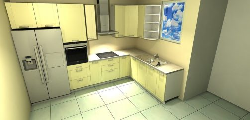 kitchen, design, interior
