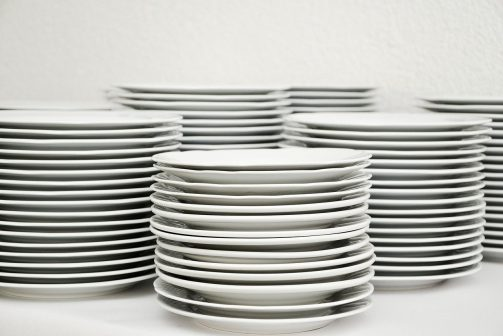 plate, stack, tableware