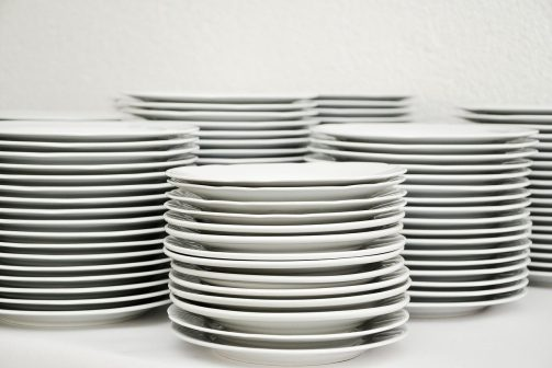 plate, stack, tableware